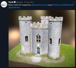 Blaize Castle Capture, 3D Modelling and Printing - Above Horizon