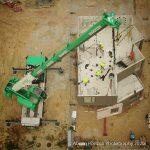 Construction Site Crane and Concrete BuildingAssembly