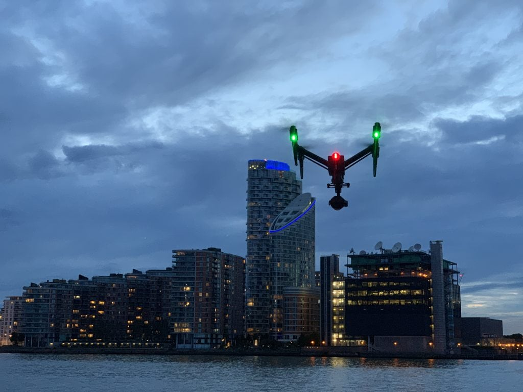 Inspire 2 above river Thames