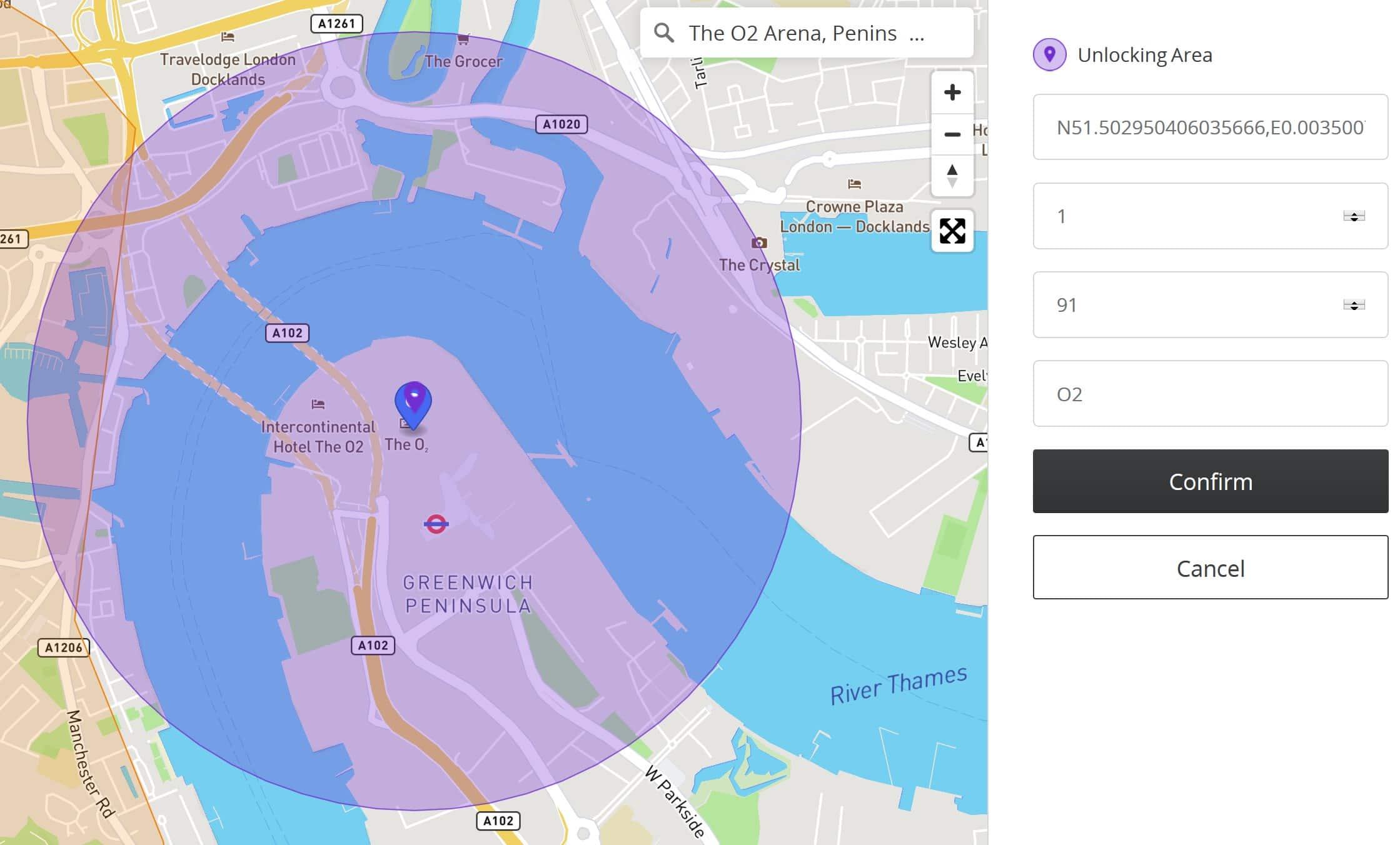 O2 area unlocking request