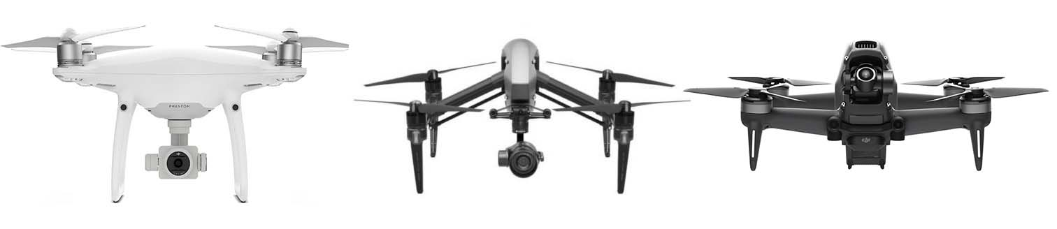 Our drones include these aircraft